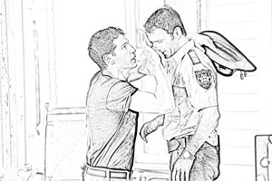 The Walking Dead - Coloring Pages - Shane and Rick