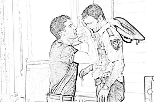 the walking dead wallpaper called The Walking Dead - Coloring Pages - Shane and Rick