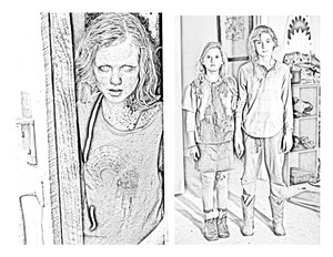 The Walking Dead - Coloring Pages - Sophia, Mika and Lizzie