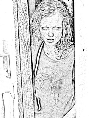 The Walking Dead - Coloring Pages - Sophia
