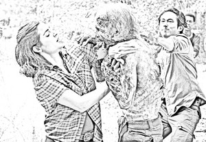 The Walking Dead - Coloring Pages - Tara and Glenn