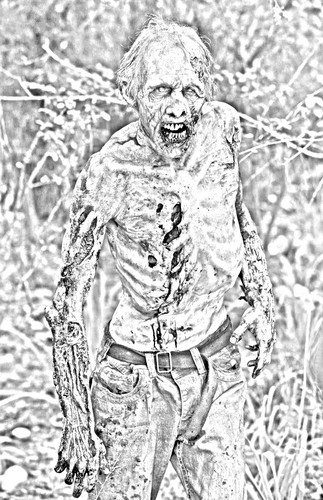 The walking dead hình nền called The Walking Dead - Coloring Pages - Walker