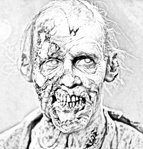 The Walking Dead Hintergrund titled The Walking Dead - Coloring Pages - Walker