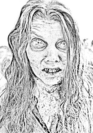 The Walking Dead - Coloring Pages - Walker