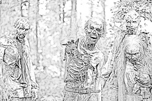 The Walking Dead - Coloring Pages - Walkers