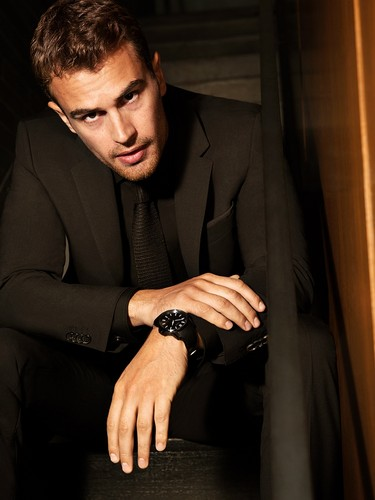 Theo James And Shailene Woodley Wallpaper With A Business Suit Well Dressed Person Titled