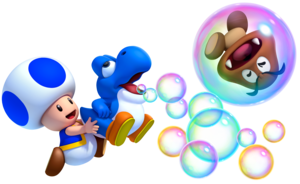 Toad and Blue Baby Yoshi.
