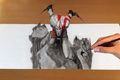 Trick Art, Drawing 3D - God of War - god-of-war fan art