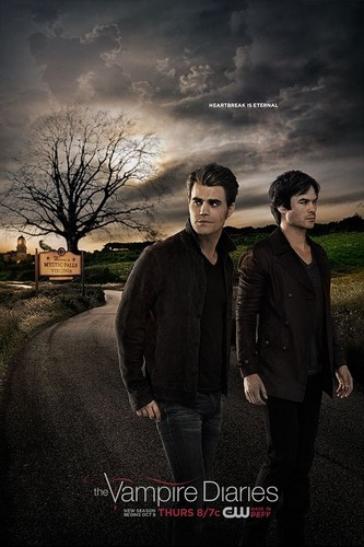 The Vampire Diaries TV ipakita wolpeyper with a business suit, a suit, and a well dressed person called Vampire Diaries Season 7 Poster