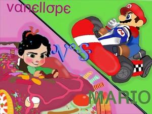 Vannelope vs. Mario:who will win?