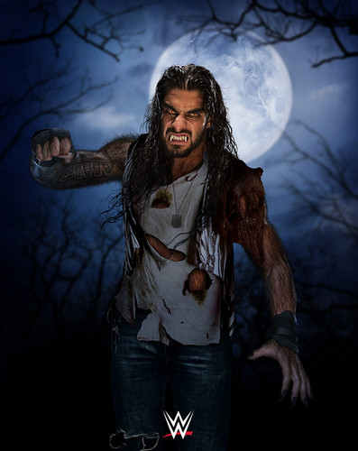 WWE kertas dinding probably containing an outerwear and a hud, hood entitled WWE's Monsters of the Mat - Roman Reigns