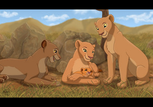 Walt Disney shabiki Art - The Lion King Lionesses