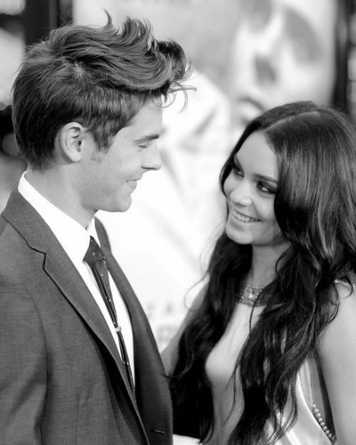 Zac Efron & Vanessa Hudgens wallpaper containing a business suit entitled Zac Efron and Vanessa Hudgens