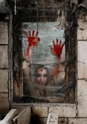 Zombie Angela at the window