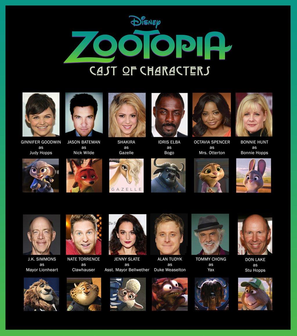 Zootopia Cast Of Characters Disney S Zootopia Photo 38982310 Fanpop
