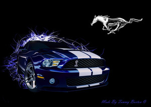 abstract ford mustang achtergrond door ramones112 d4rkd8t