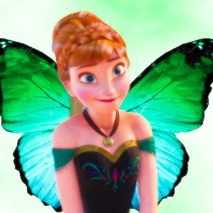 anna as a farfalla