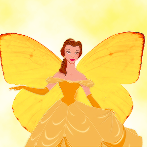 belle as a butterfly