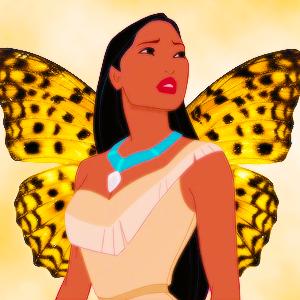 disney princesses as borboletas