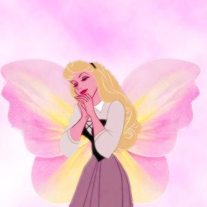ディズニー princesses as 蝶