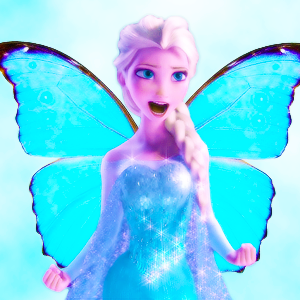 elsa as a schmetterling