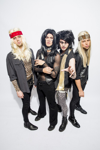 5 Seconds Of Summer Wallpaper Probably Containing A Hip Boot Entitled IHeartRadio Halloween Portraits