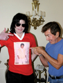 michael jackson and alvin malnik michael jackson wears a shirt of himself - michael-jackson photo