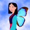 mulan as a butterfly - mulan fan art