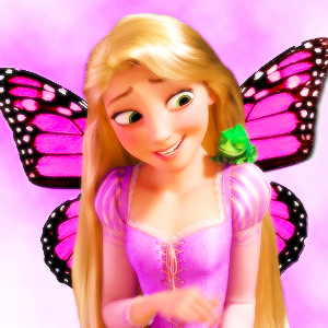 rapunzel as a vlinder