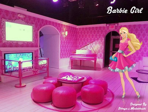 Barbie-Filme Hintergrund with a living room, a family room, and a drawing room called shreya