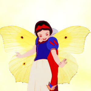 snow white as a तितली