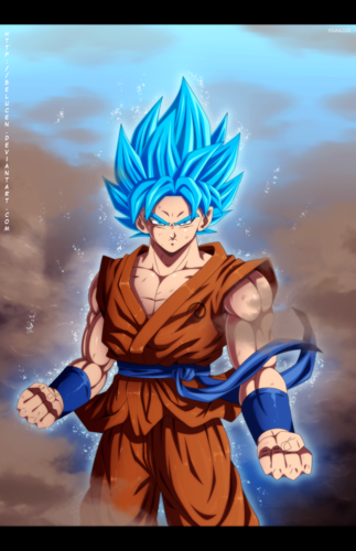 Dragon Ball Z achtergrond containing anime entitled super saiyan god super saiyan goku door belucen d8q6uiv