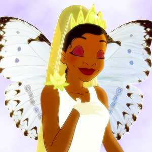 tiana as a butterflly