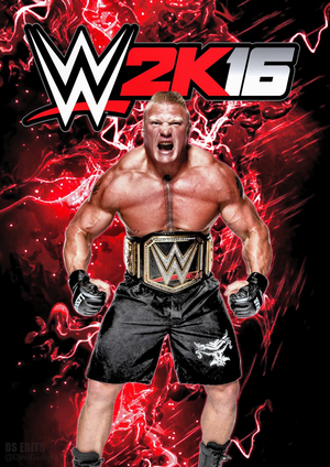 WWE 2k16 팬 made cover poster 의해 ultimate savage d8tvl8r