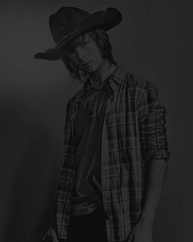 Walking Dead fond d'écran containing a fedora, a campaign hat, and a boater titled Season 6 Character Portrait #2 ~ Carl Grimes