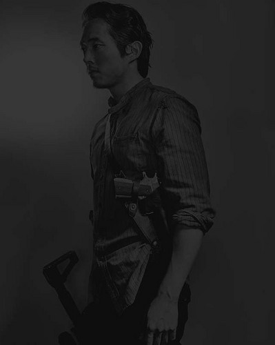 The Walking Dead wallpaper with a rifleman, a green beret, and battle dress entitled Season 6 Character Portrait #2 ~ Glenn Rhee