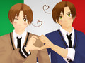 MMD x APH  Gakuen Italy Brothers. I count this to Itacest too. - hetalia photo