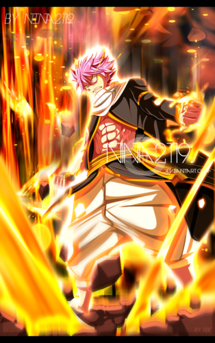 Fairy Tail fond d'écran possibly containing a feu titled *Natsu : Blaze Dragon King Mode*