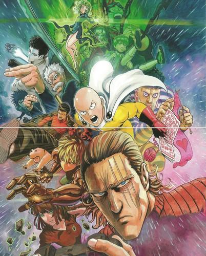 manga wallpaper with Anime titled ººOne punch, punzone Manºº
