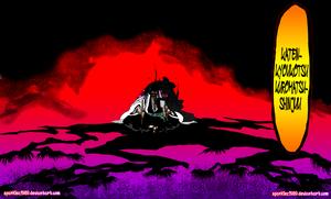 *Shunsui Kyoraku Bankai : Katen Kyokotsu: Karamatsu Shinju*