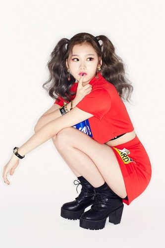 Twice (JYP Ent) wolpeyper possibly containing bare legs, hosiery, and tights called TWICE Official debut pictures