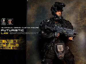 1:6 one sixth scale Original Rekaan Cyborg Futuristic Law Enforcement Agent sejak Calvin's Custom @ Cyb