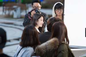 151117 IU(アイユー) filming New CF TV for DigiCable Smart Cable