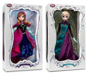 """17"""" Limited Edition Anna and Elsa Dolls"""