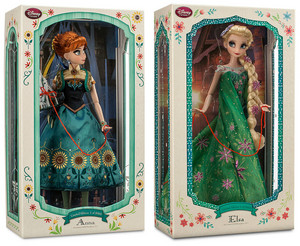 "17"" Limited Edition Anna and Elsa muñecas"