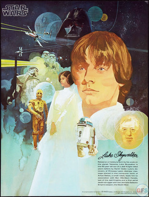 1977 estrela wars coca cola burger chef poster luke skywalker