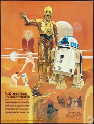 1977 سٹار, ستارہ wars coca cola burger chef poster r2 d2 c 3po