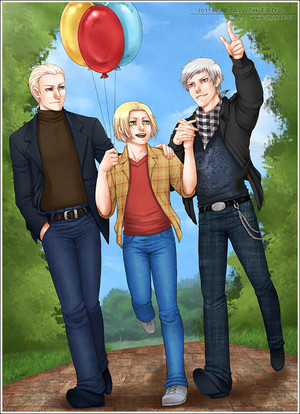 APH Ludwig, Feliks and Gilbert in the park