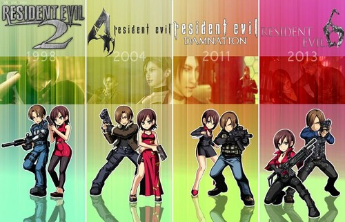 Resident Evil Hintergrund called Ada Wong and Leon S Kennedy - The Years.