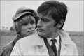 Alain Delon and Mireille Darc